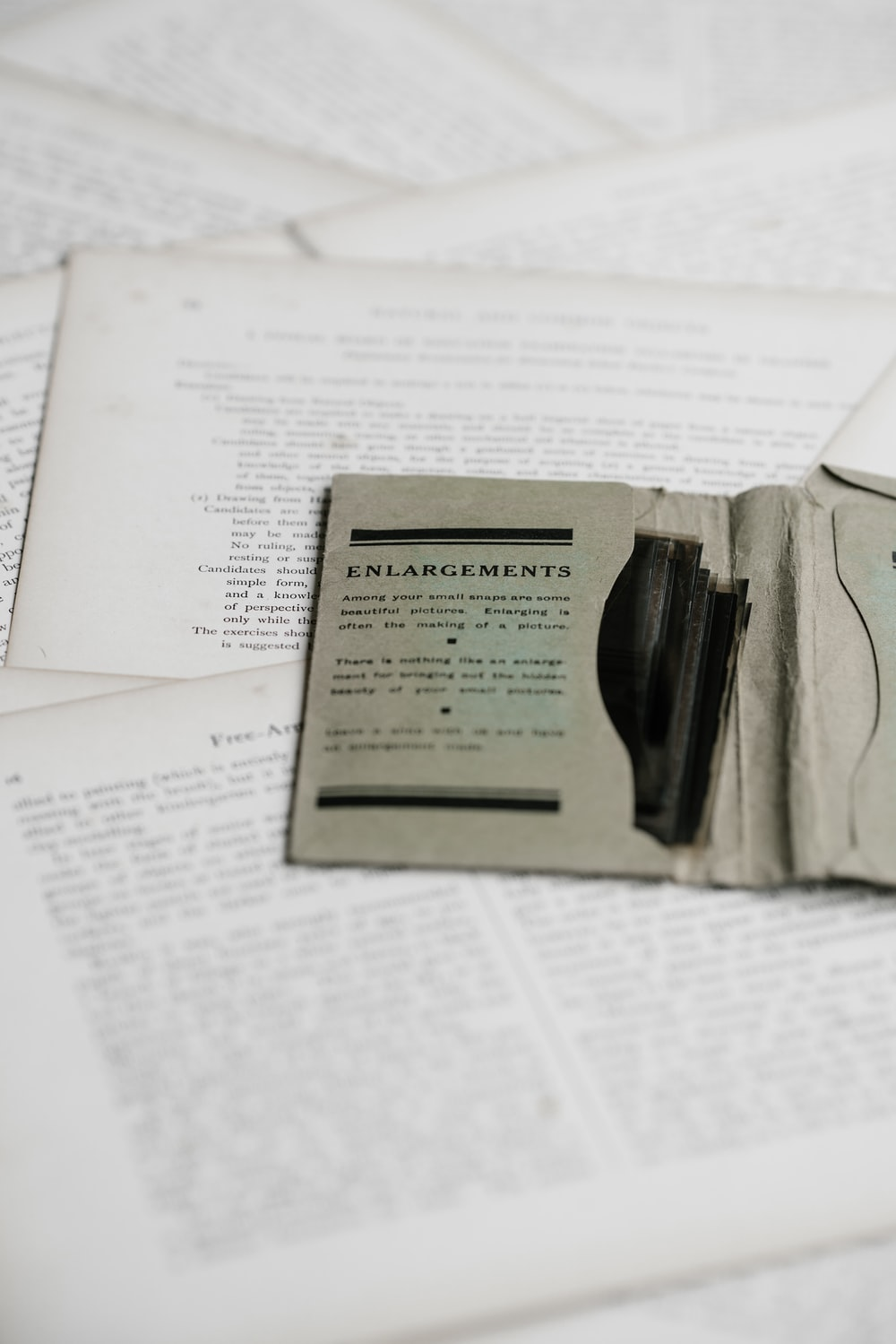 white printer book pages