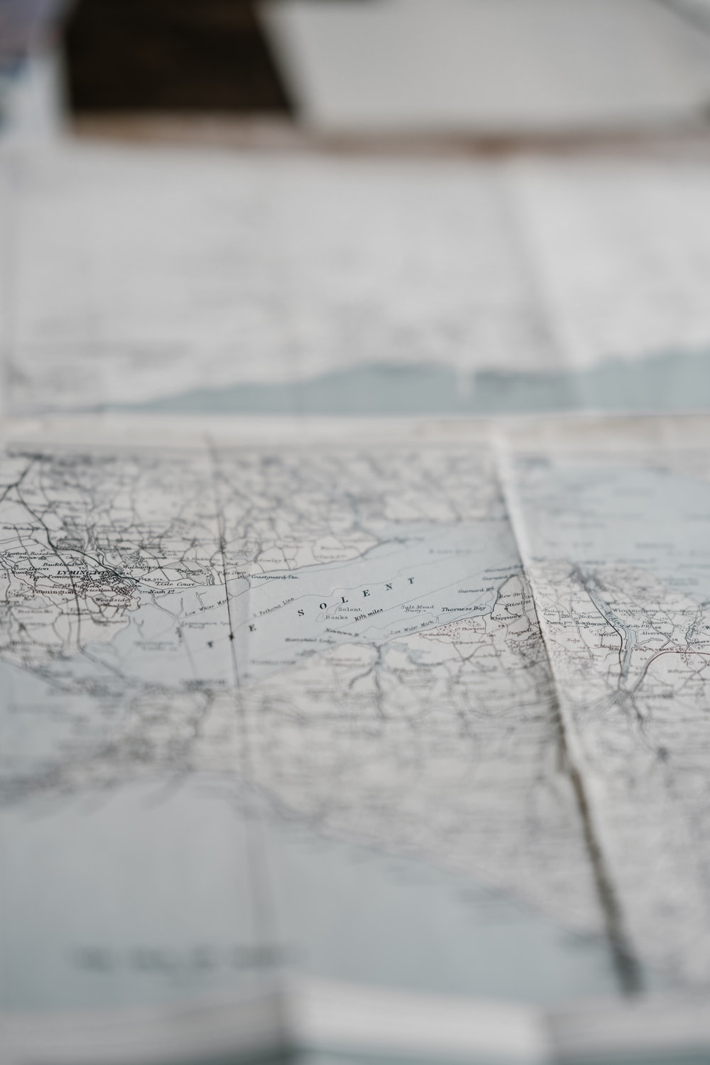 maps paper on table