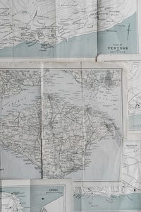 gray and white map