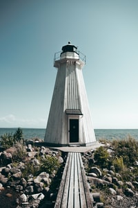 white and black lighthouse