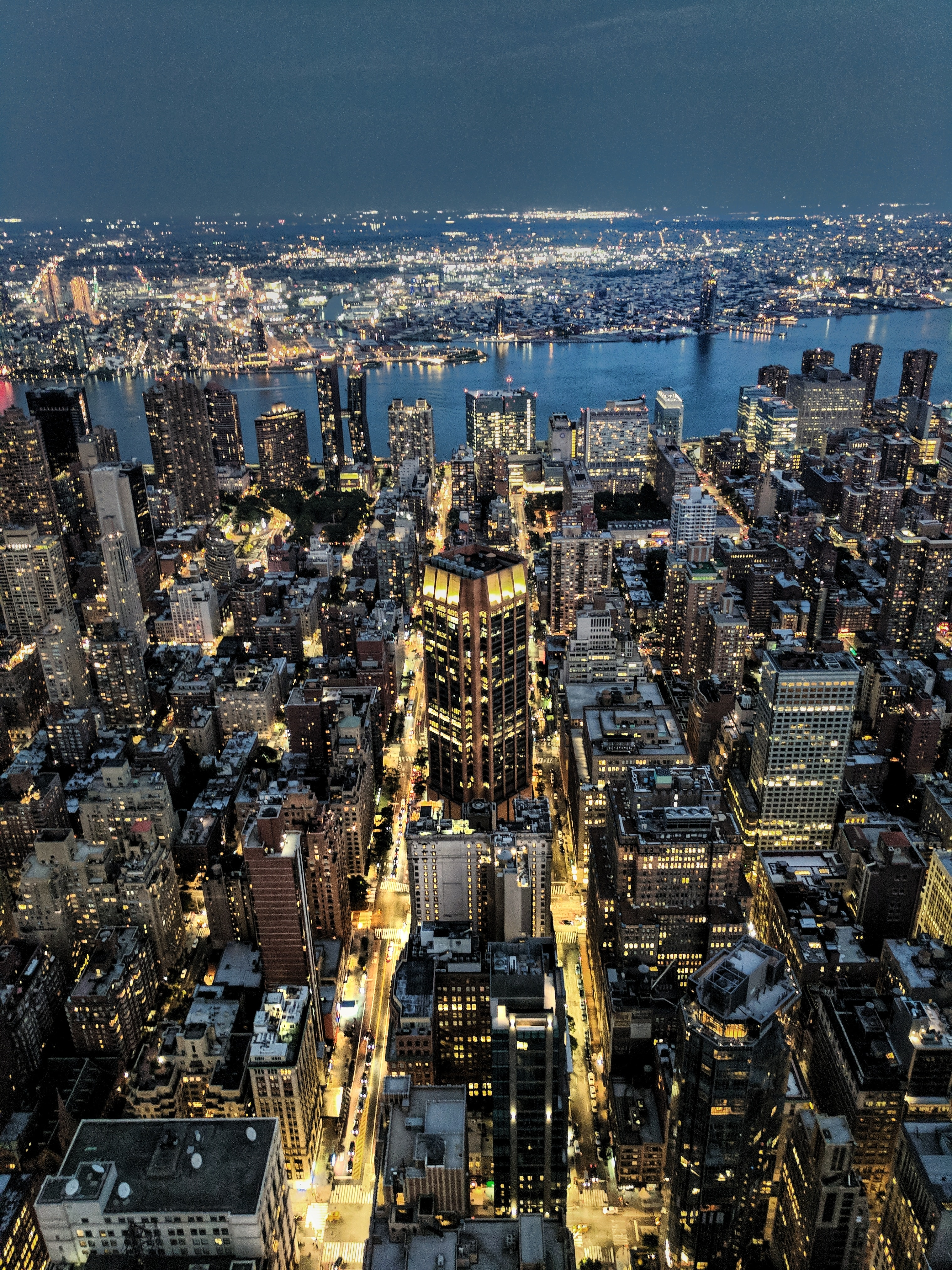 areal view of city at nighttime