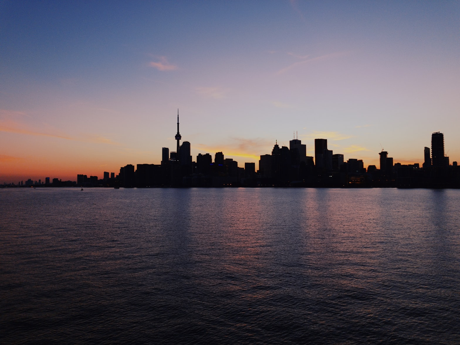 Toronto skyline from the harbor