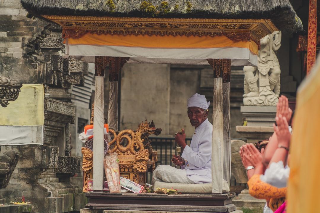 An religious ceremony in Bali