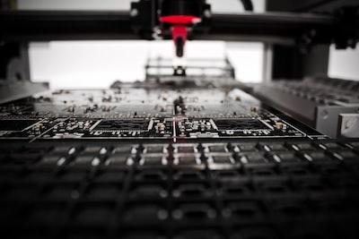 A close up of the production facility at the Bristol Robotics Laboratory
