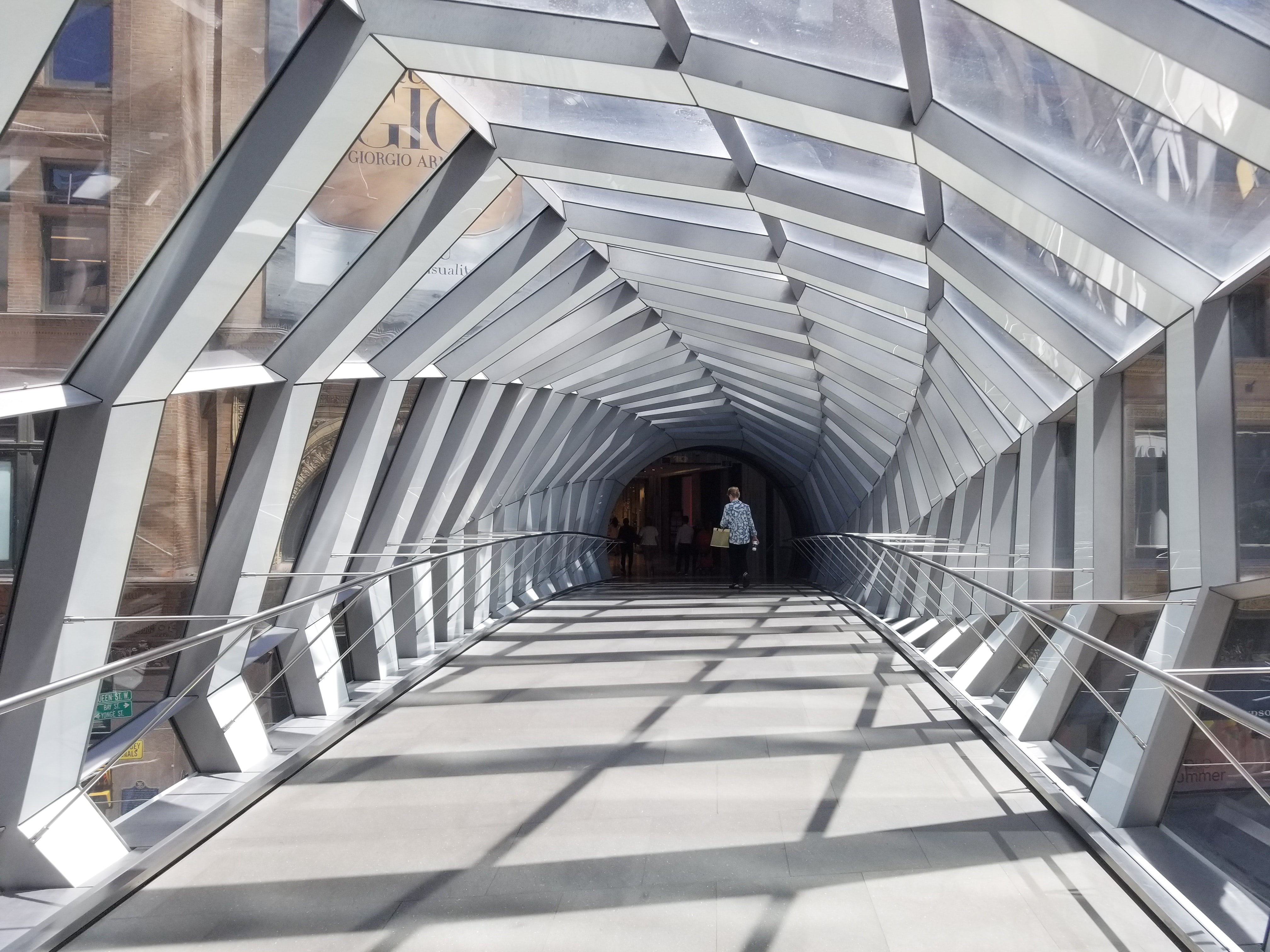 architectural photograph of pedestrian bridge
