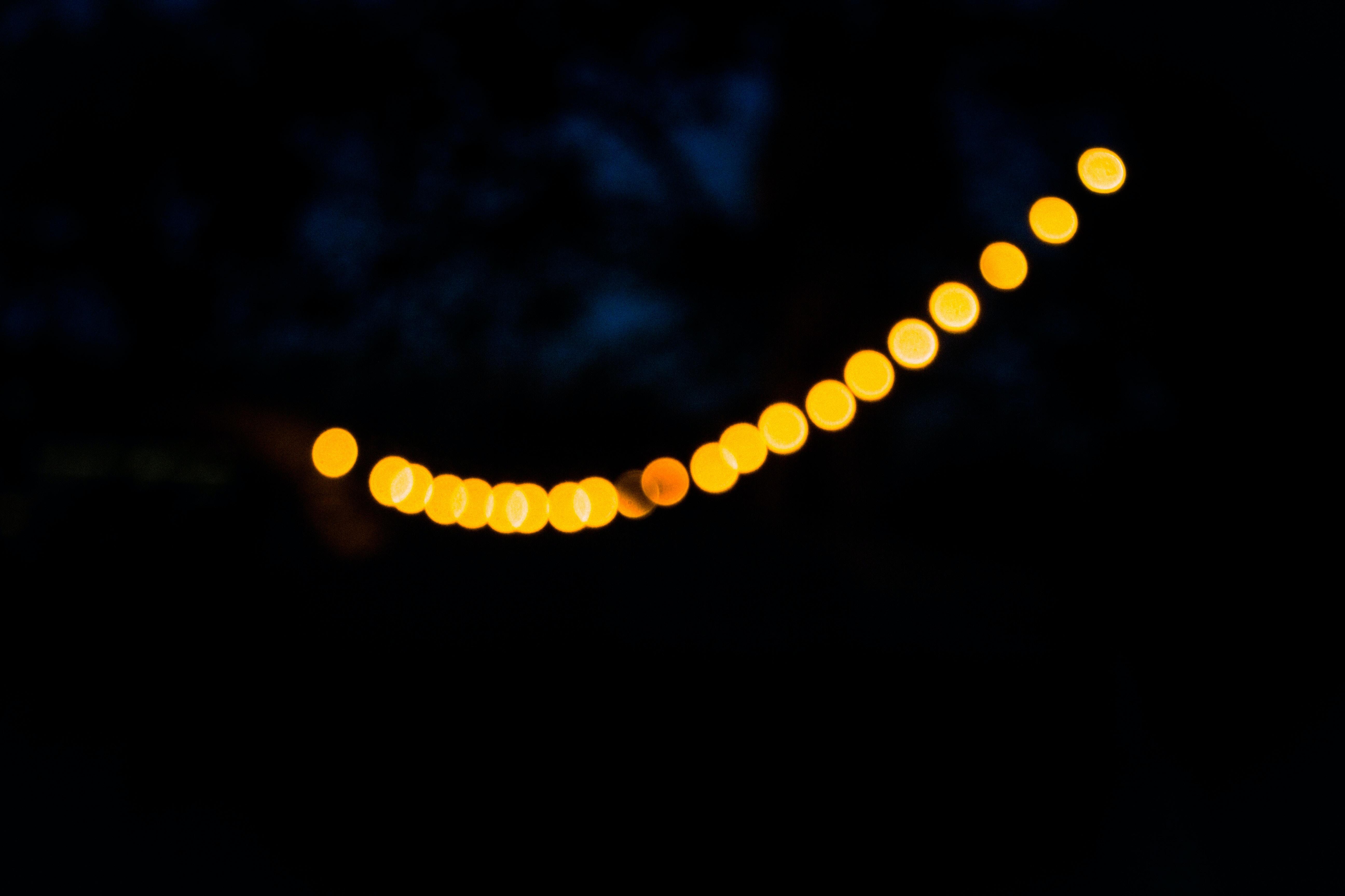 yellow bokeh light photography