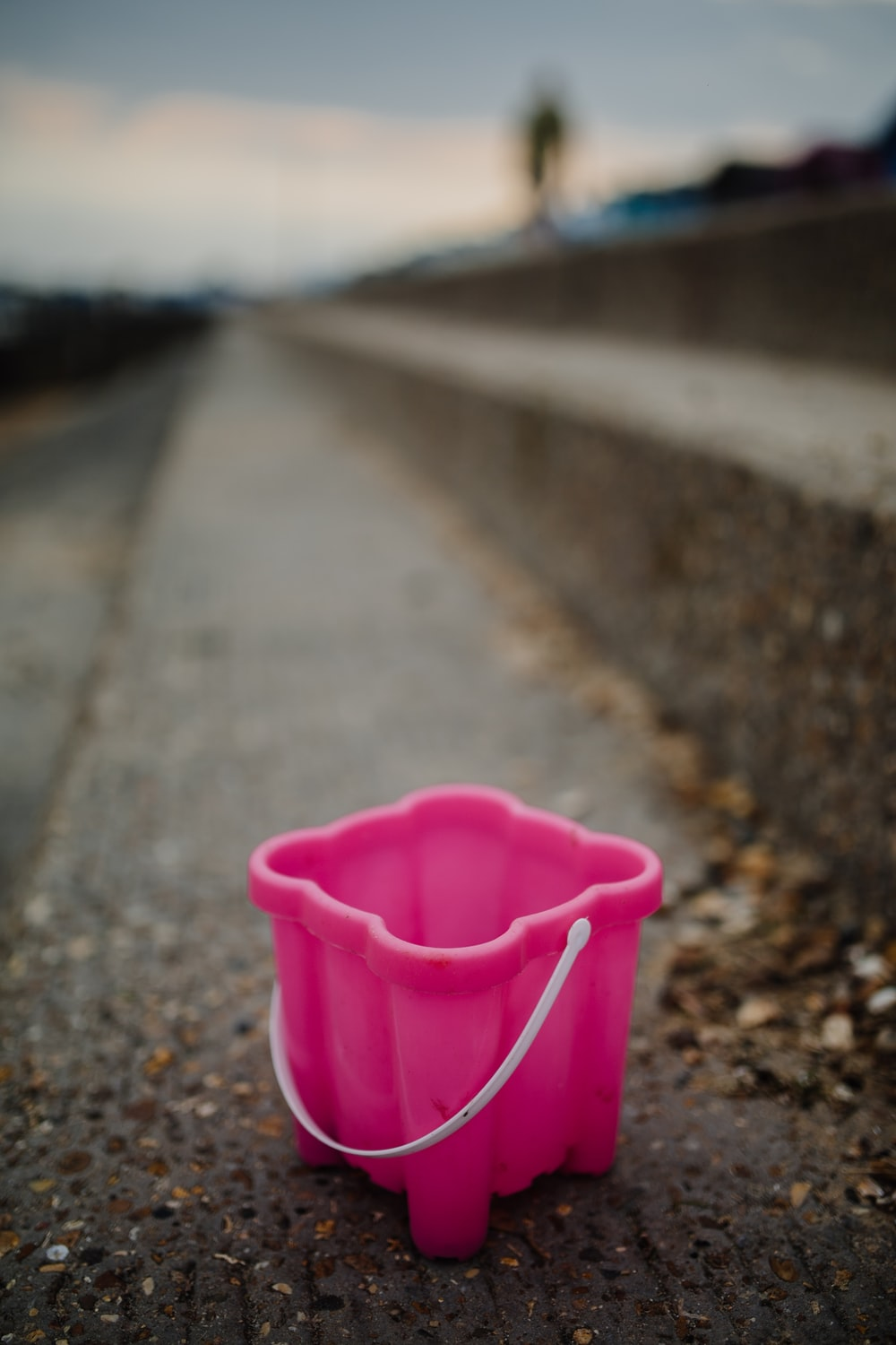 photo of pink plastic container