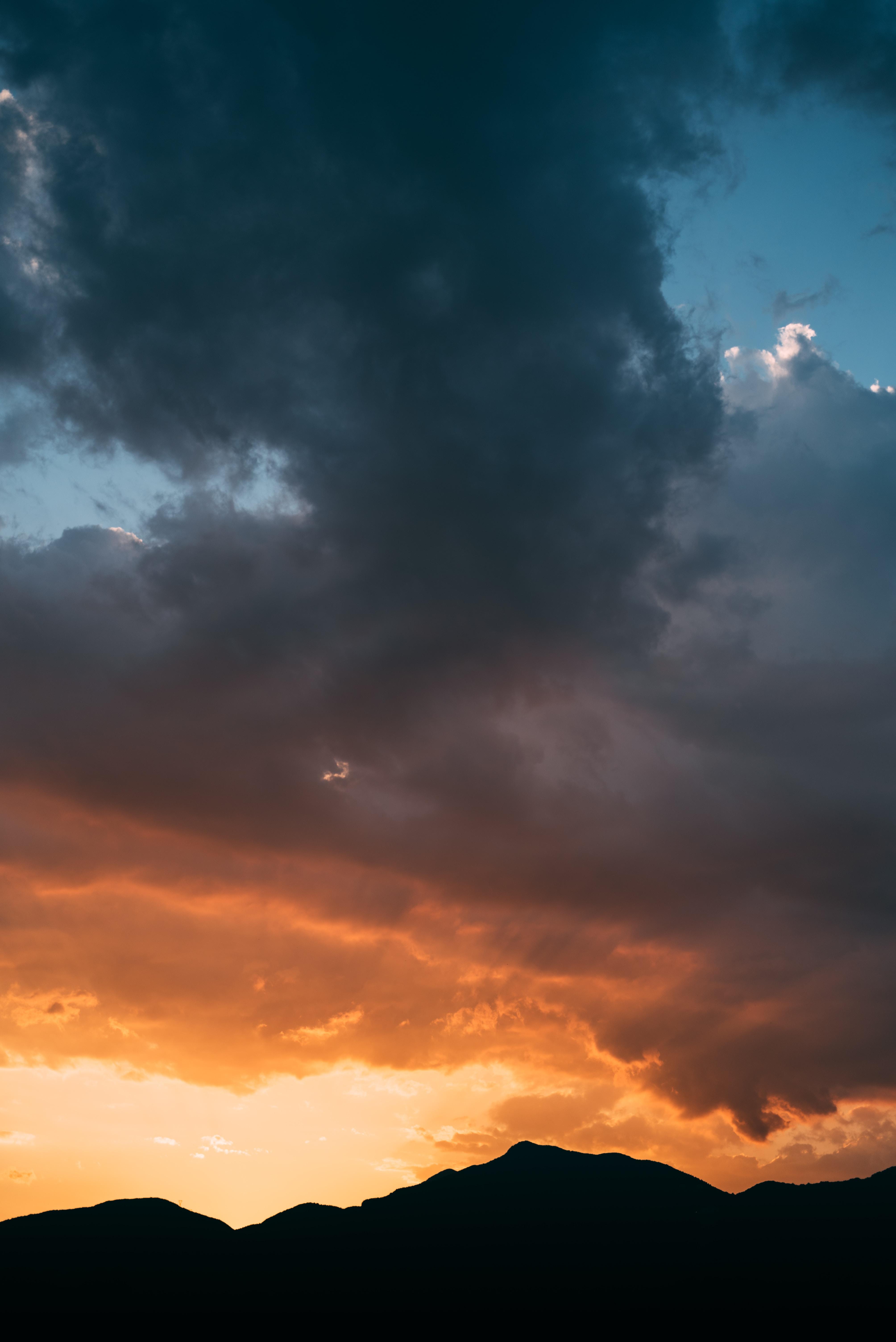 nimbus clouds during golden hour