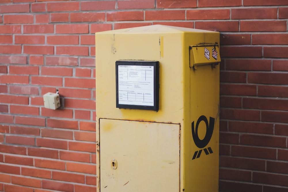 yellow and black machine