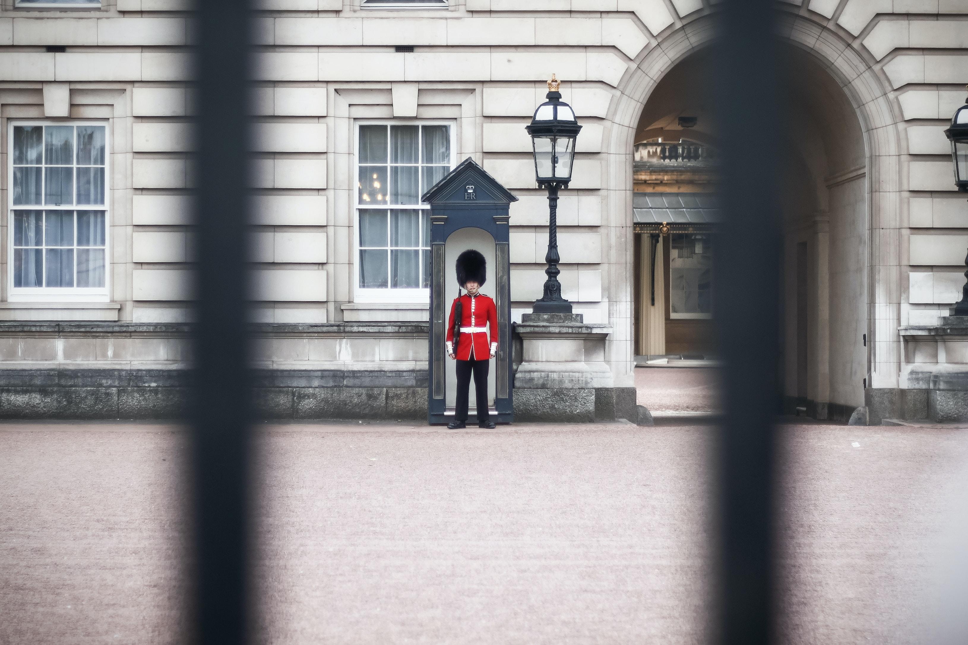 Royal Guard guarding the Buckingham Palace
