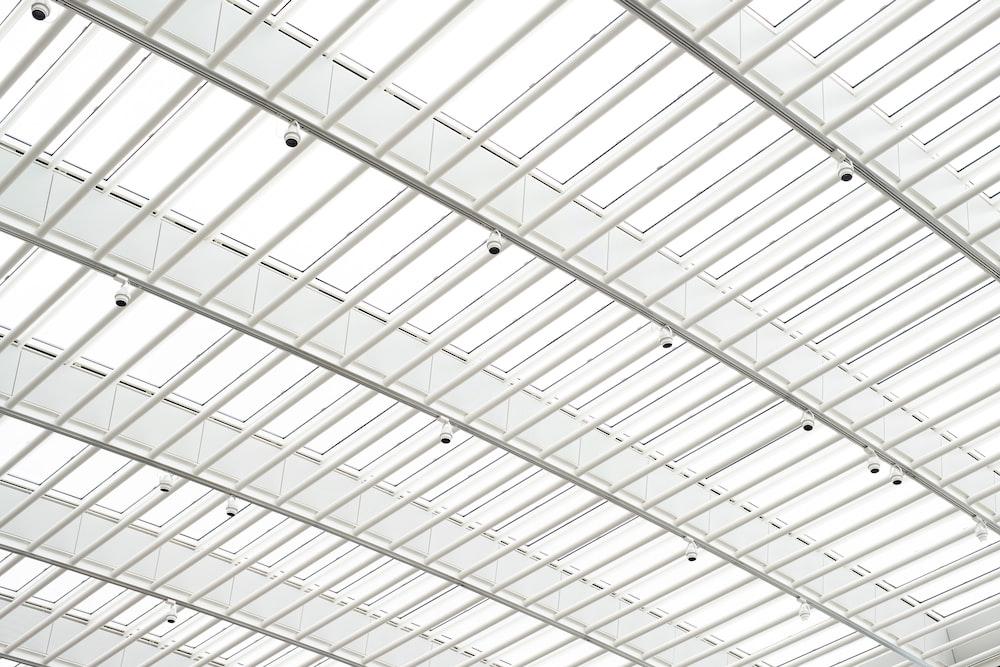 lamps on metal framed roof