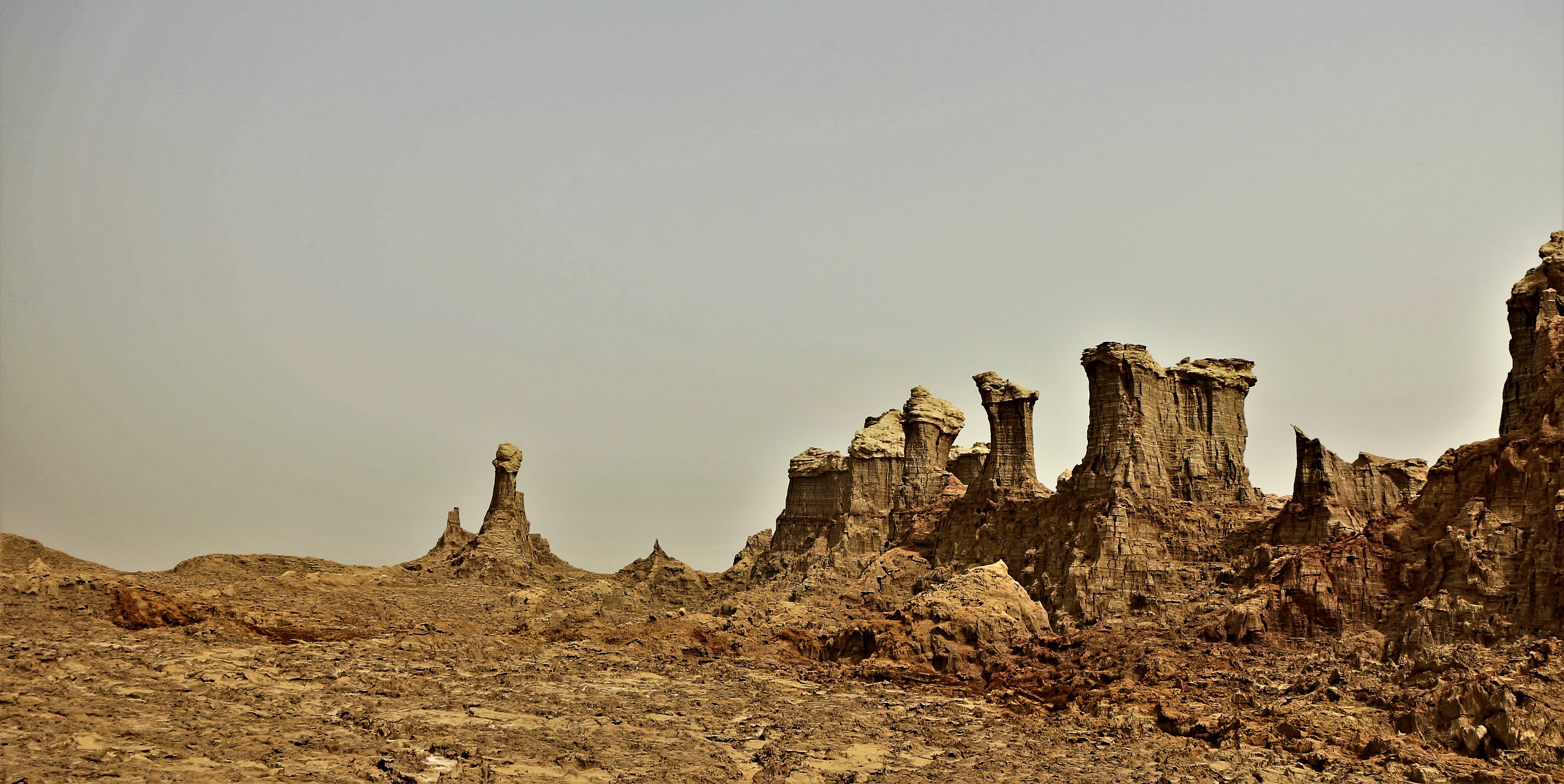 brown rock formations