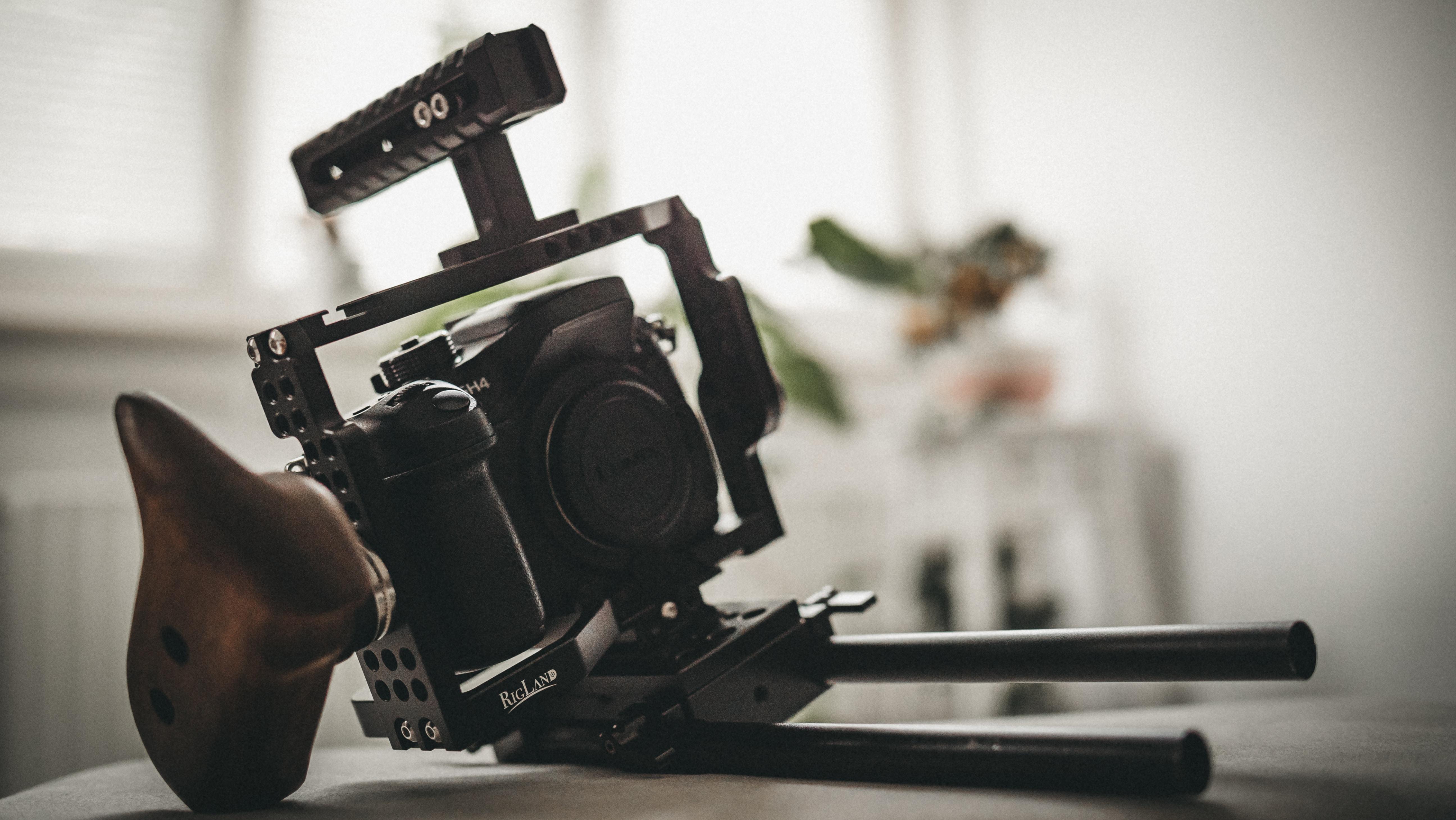 black camera bod on black case