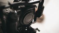 shallow focus photography of DSLR camera