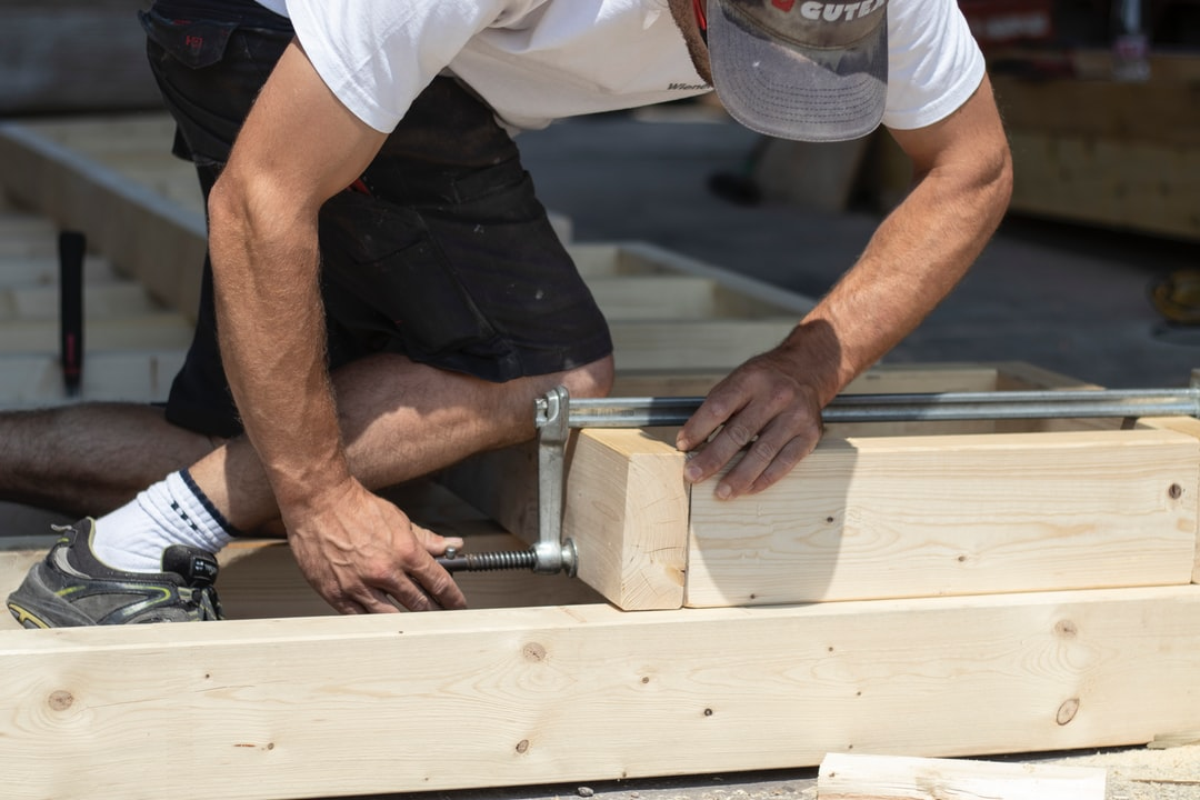 Before installing a wooden structure on a roof, our workers had to create everything, starting with these wooden frames