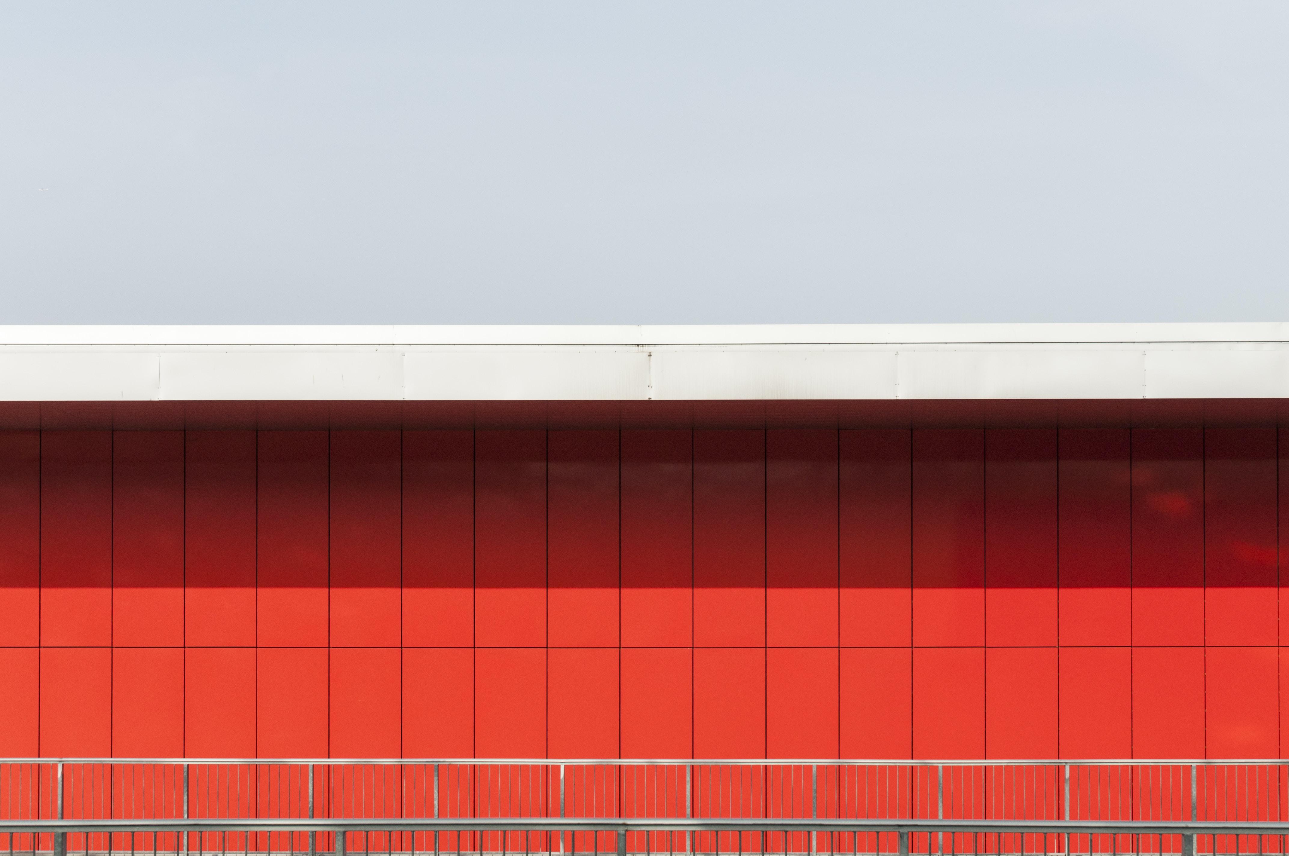 grey steel railing outdoors