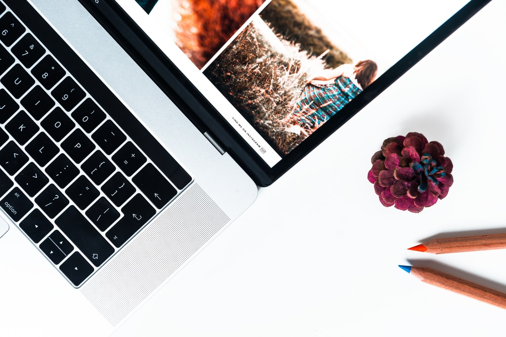 turned-on MacBook Pro