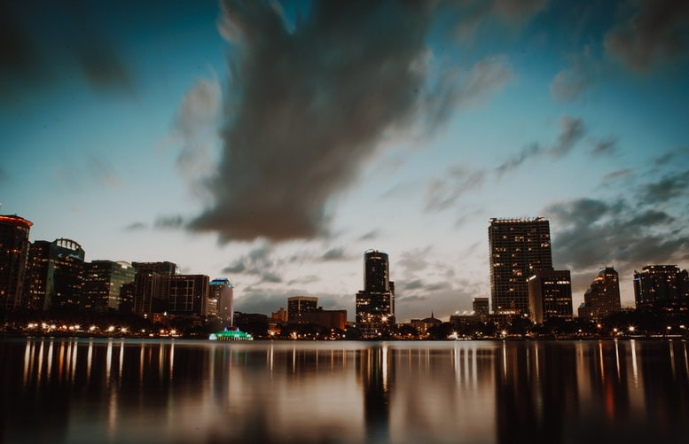 Skyline of Downtown Orlando Florida