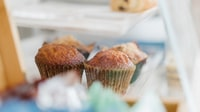 selective focus photography of cupcakes