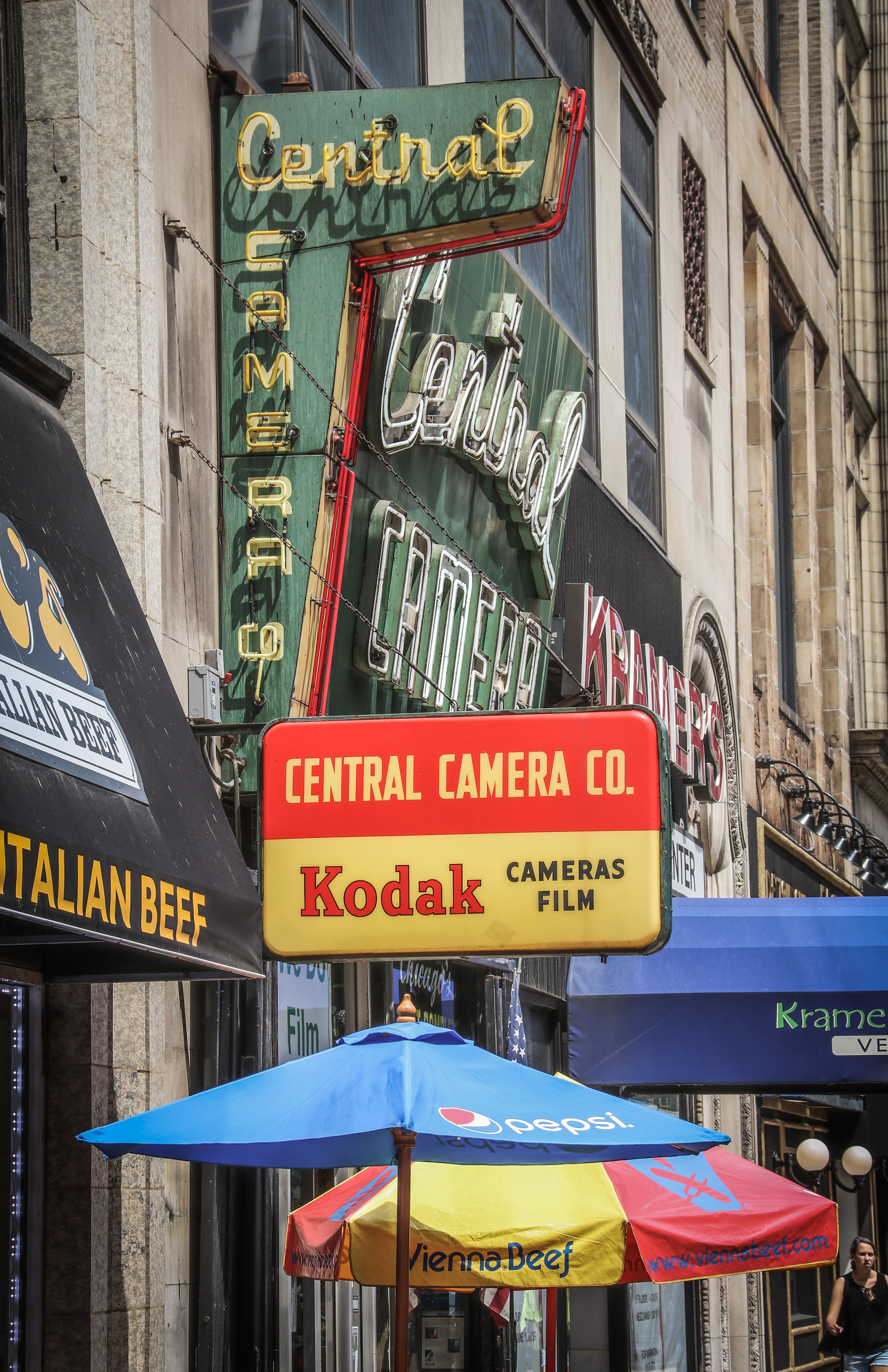 Central store marquee signage