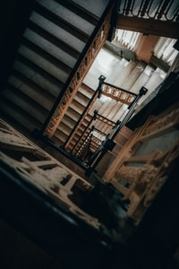 brown staircase