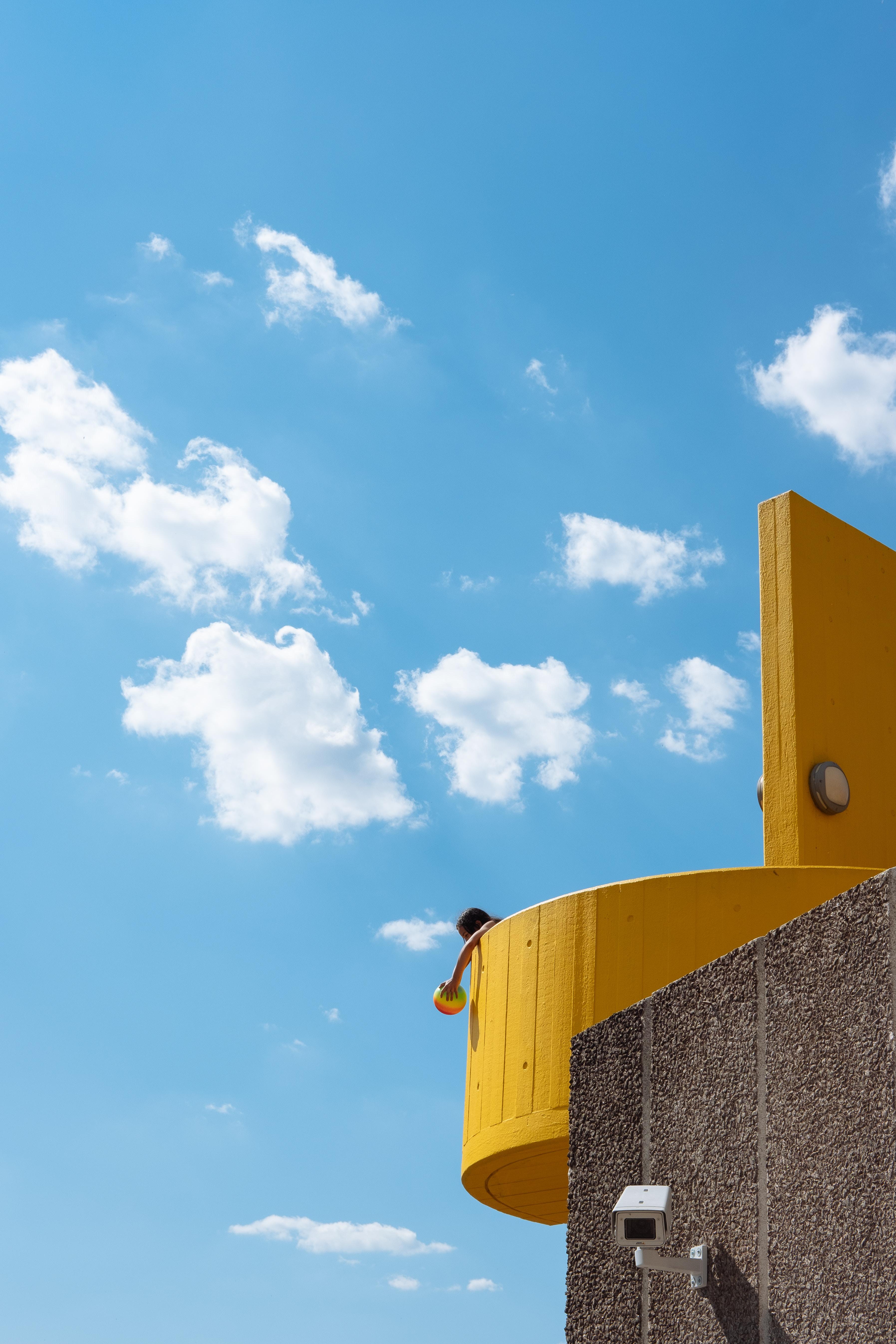 blue cloudy sunny sky