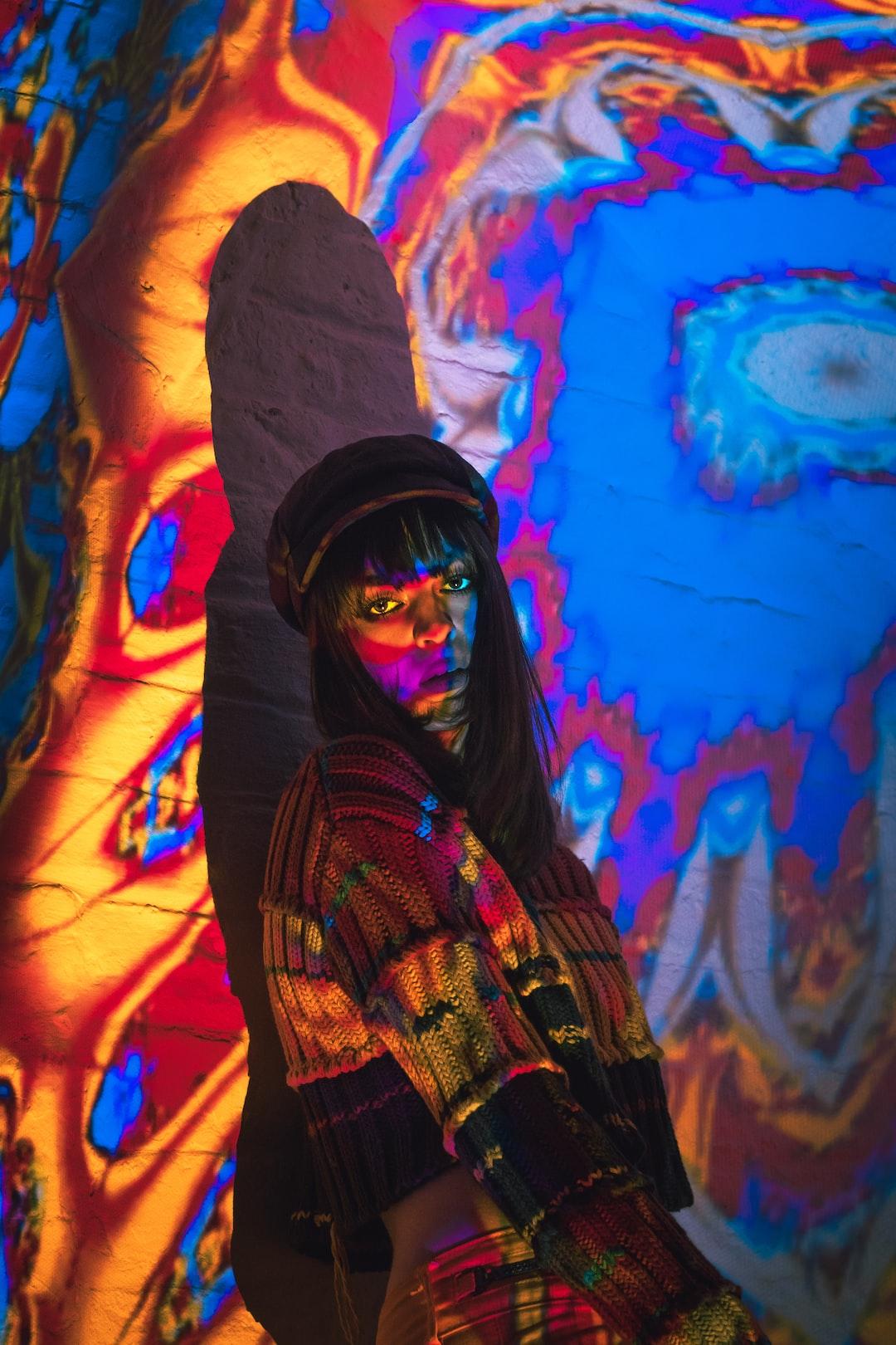psychedelic portrait