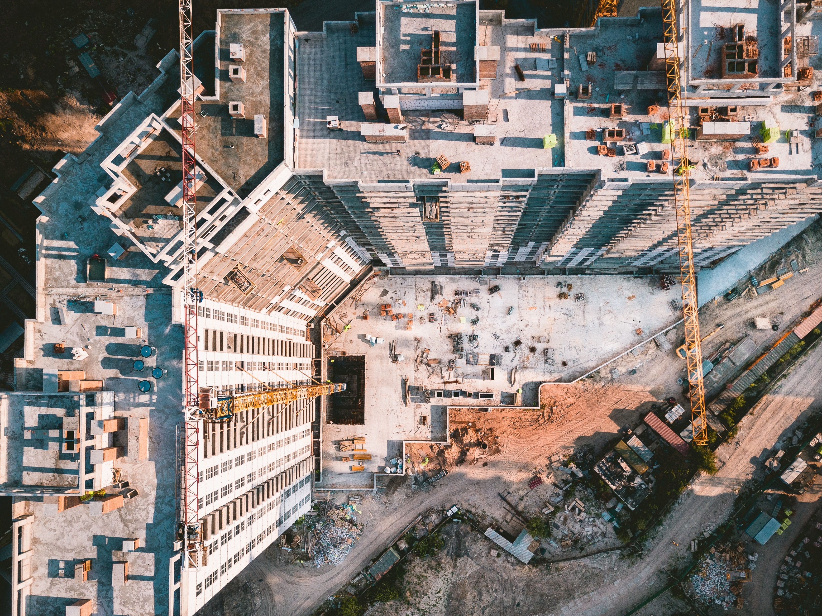 bird's eye view photography of high-rise building