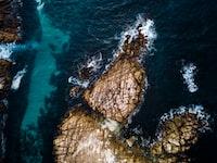 stock rock in body of water