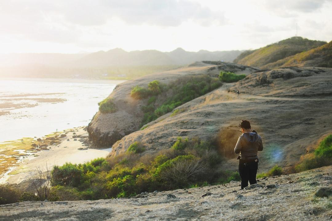 A scenery at Bukit Merese, Lombok, Indonesia.