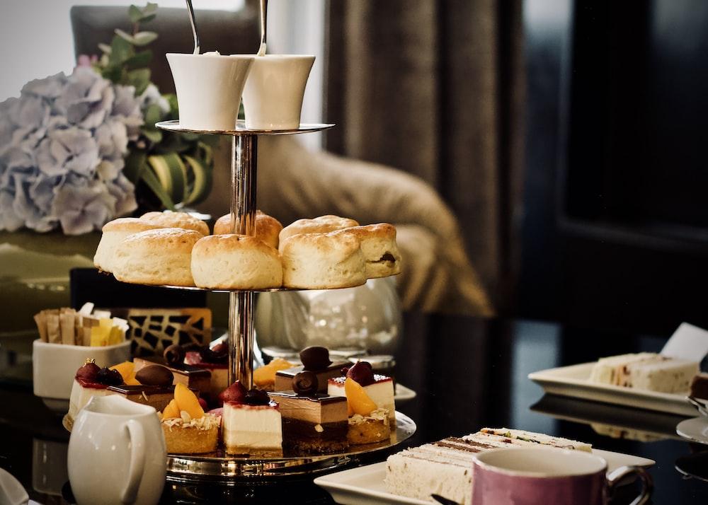 pastries display on rack