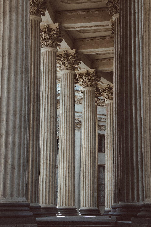 photography of concrete column