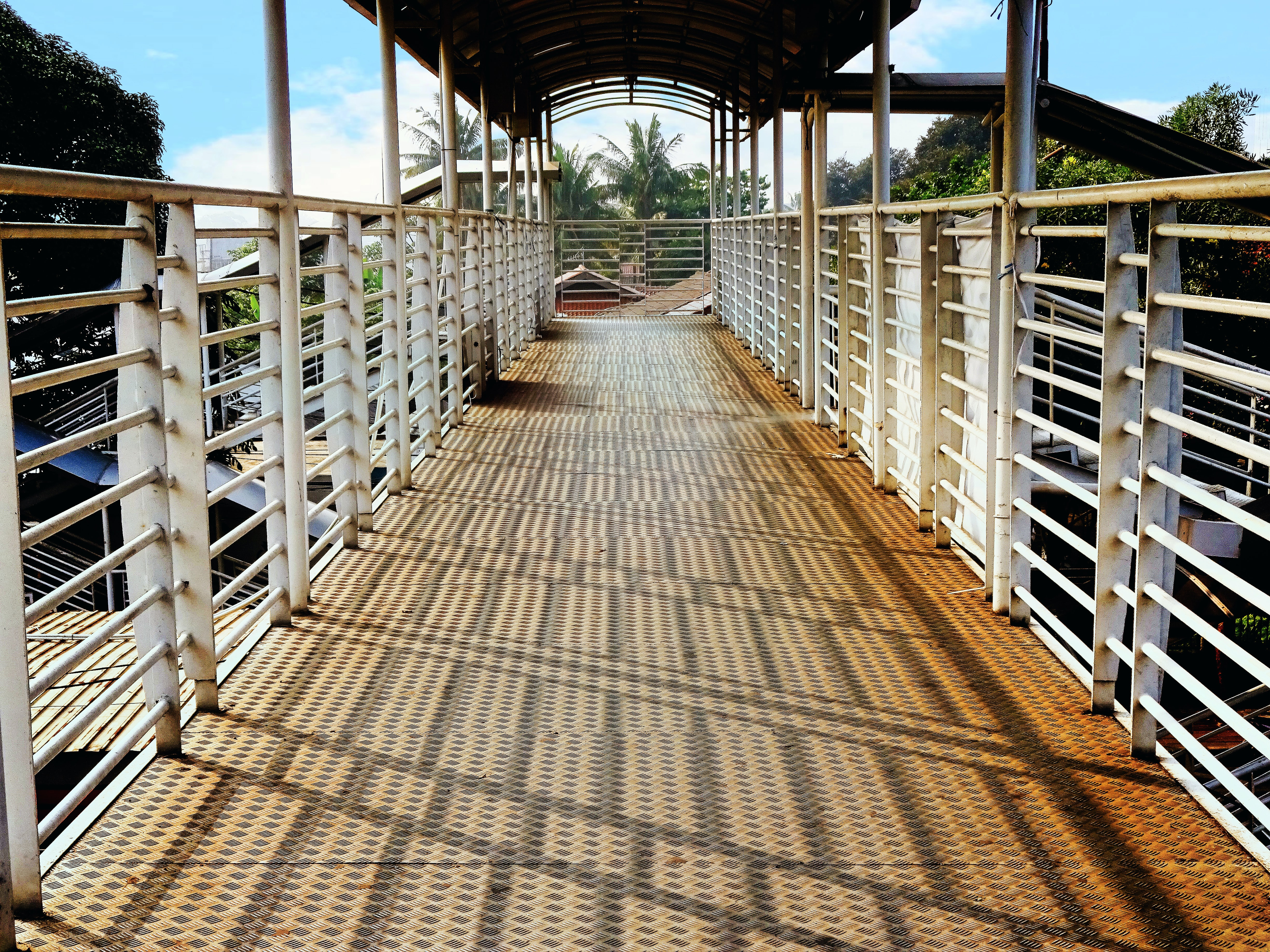 Pedestrian bridge in the south of the city