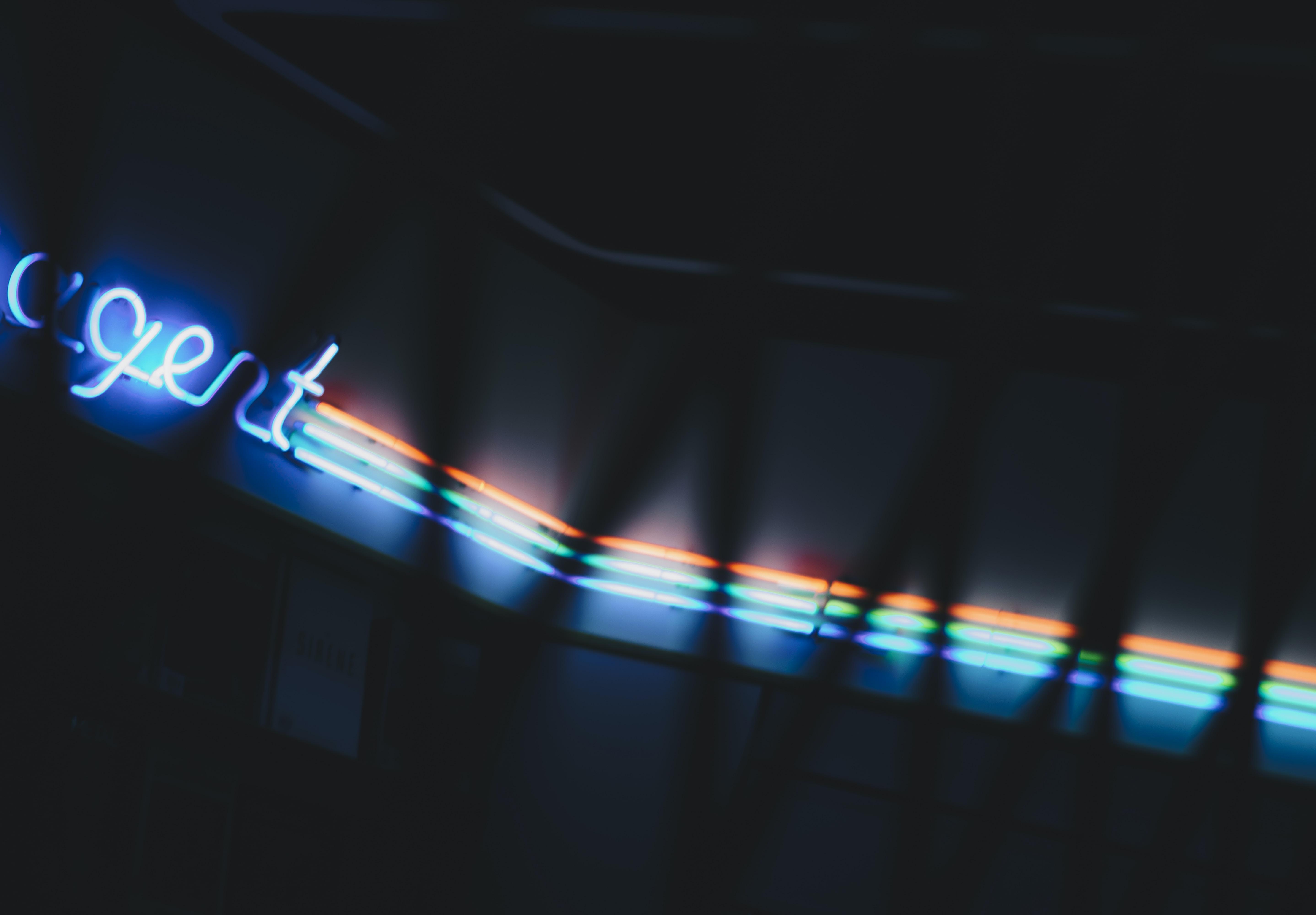 turned neon lights
