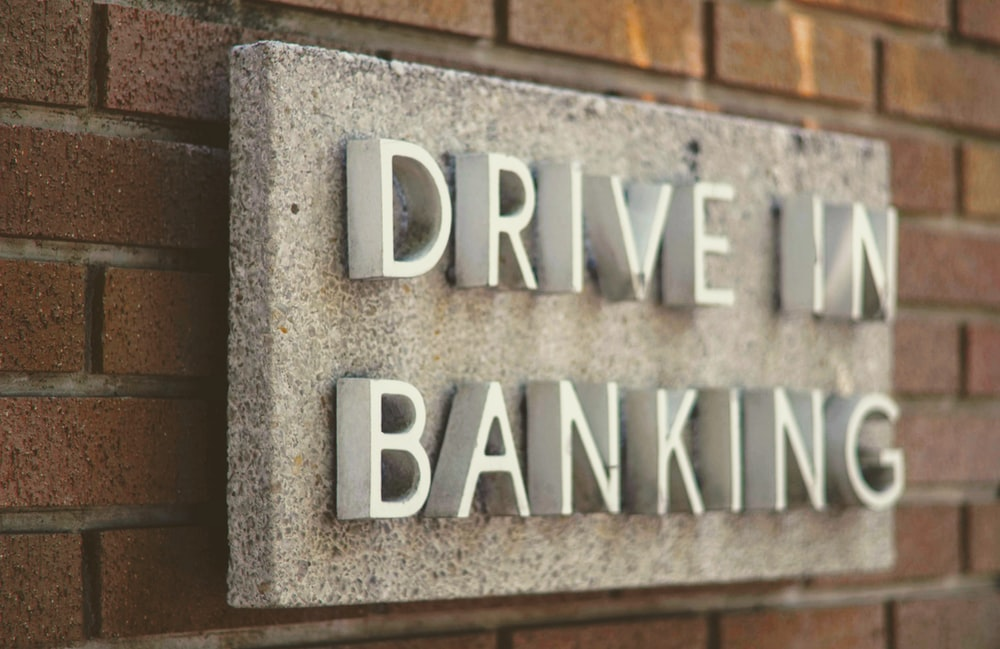 drive in banking signage