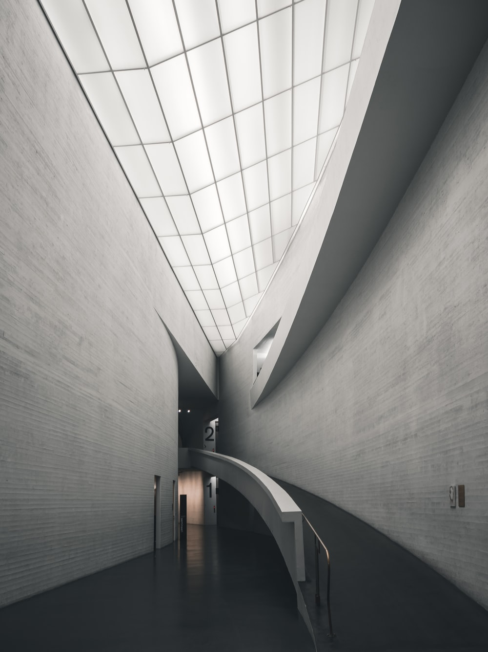 gray concrete wall inside building