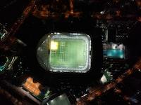 bird's eye view photography of NFL field