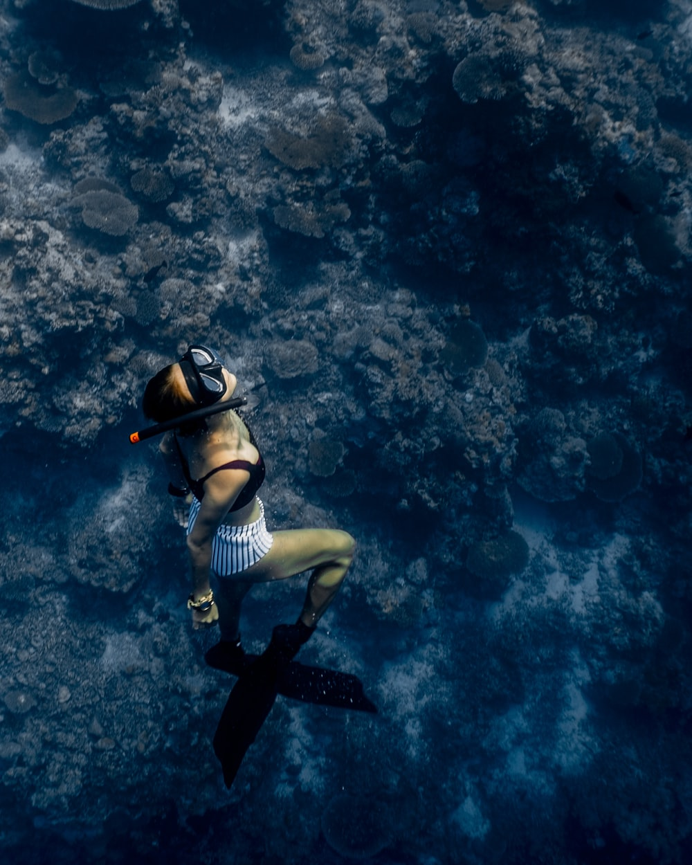 woman doing diving