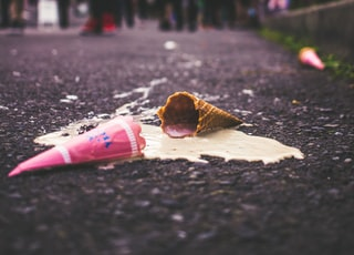 ice cream on road