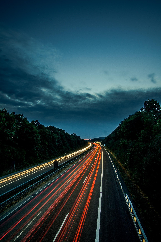 long exposure of street lights