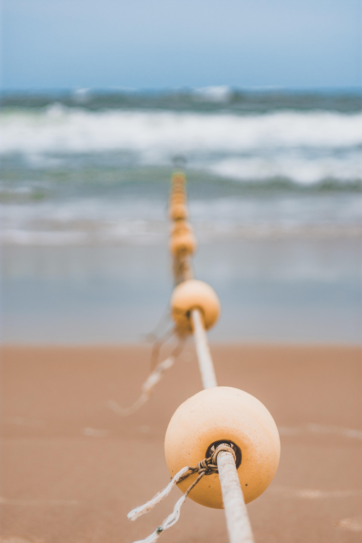 ball rope in seashore