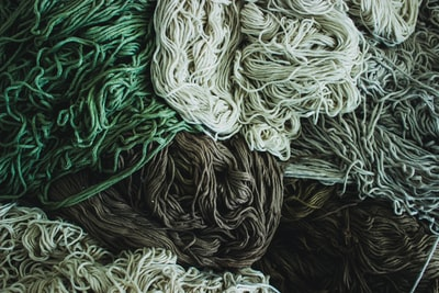 Yarn used for carpet making.