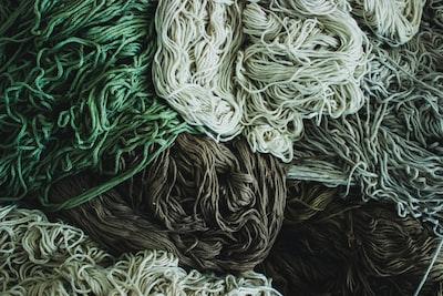 Yarn used for carpet making.