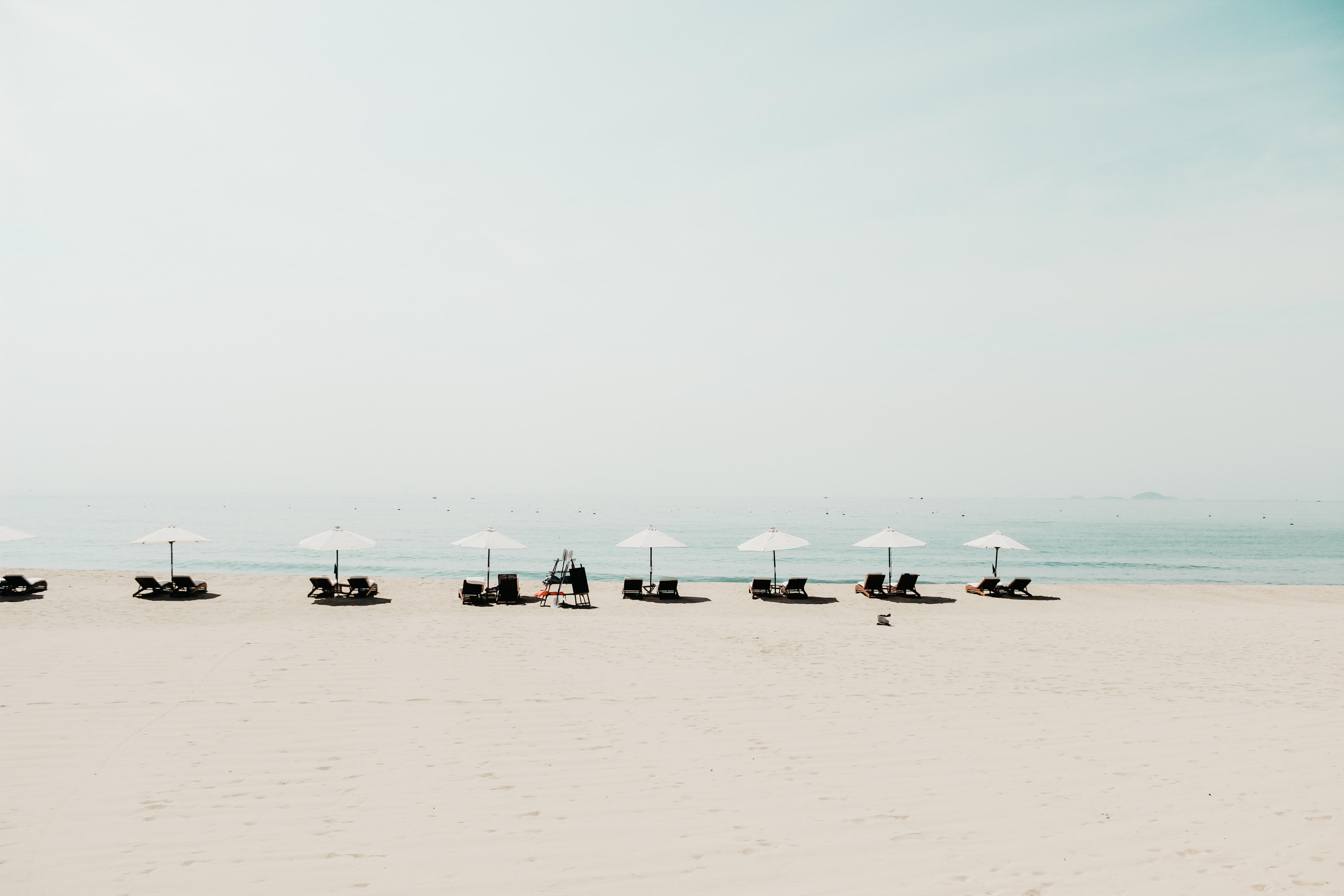 landscape shot of beach
