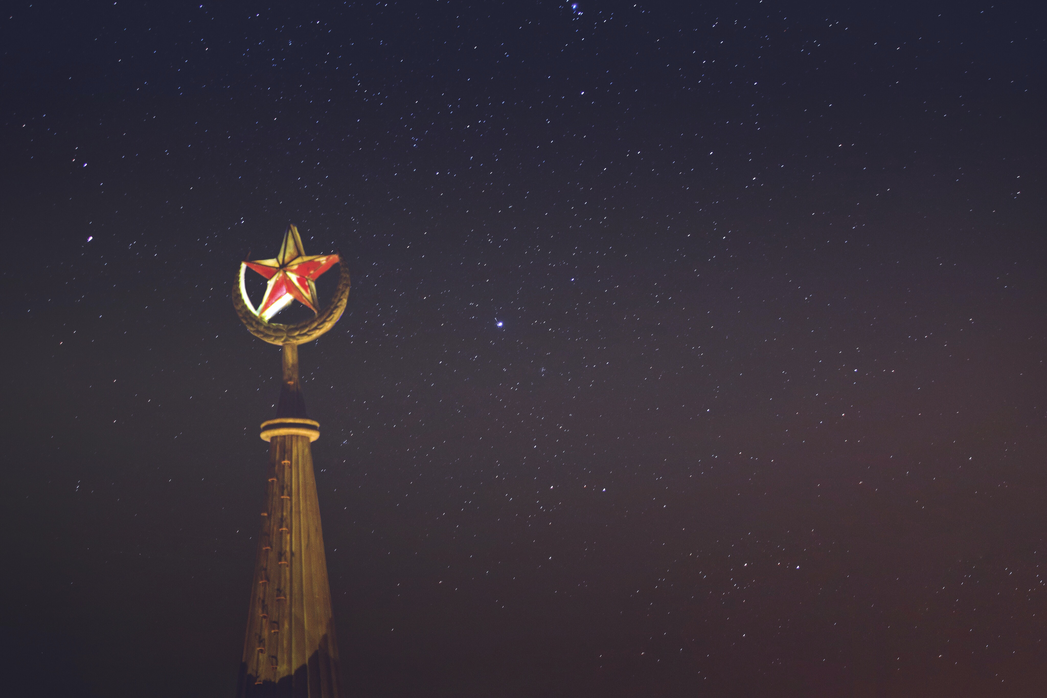red star building topper