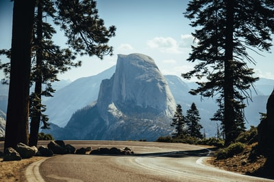 landscape photography of white and gray mountain yosemite teams background
