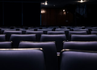 gray leather theater seats