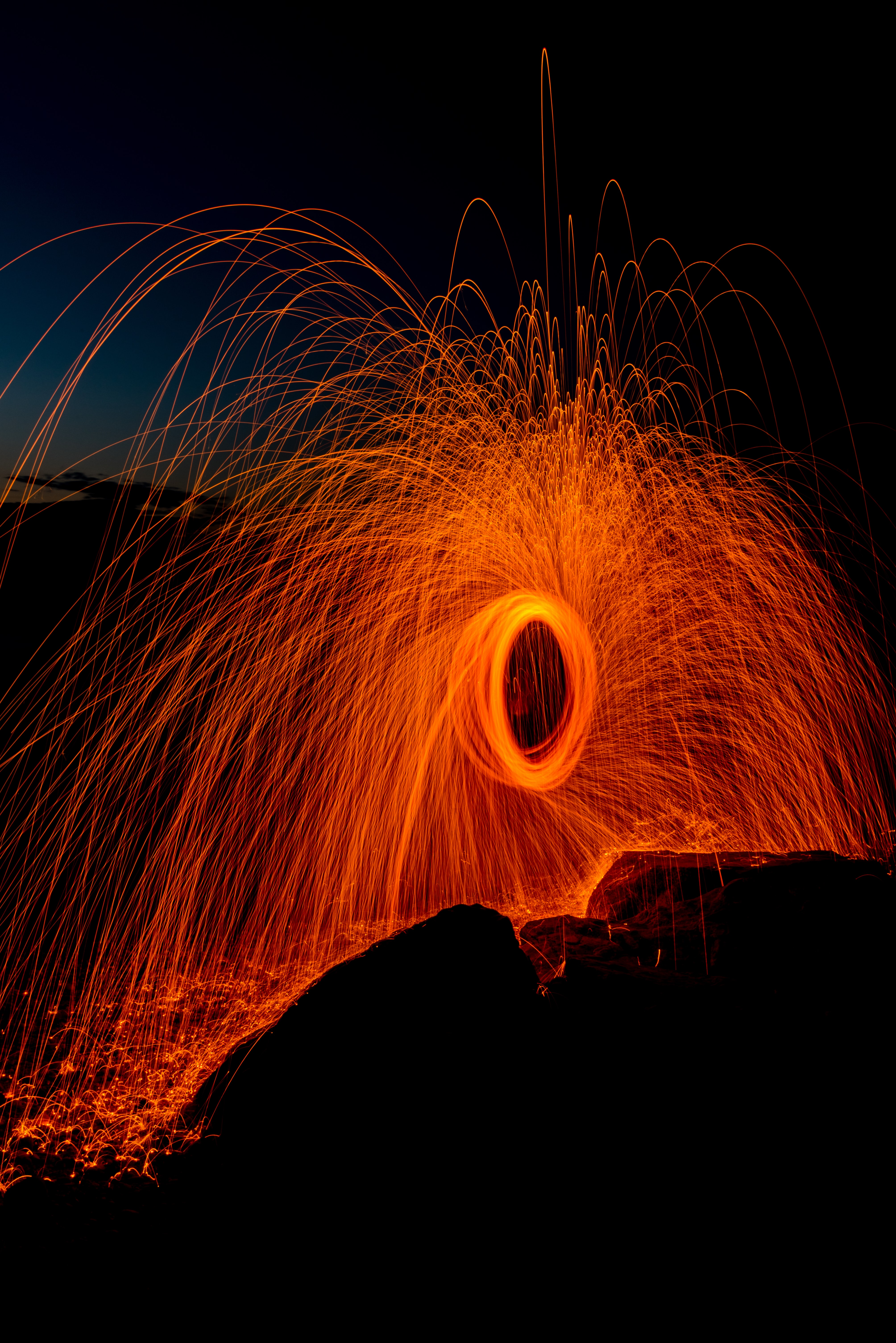 person taking photo of round steel wool
