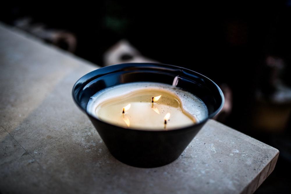 black votive candle