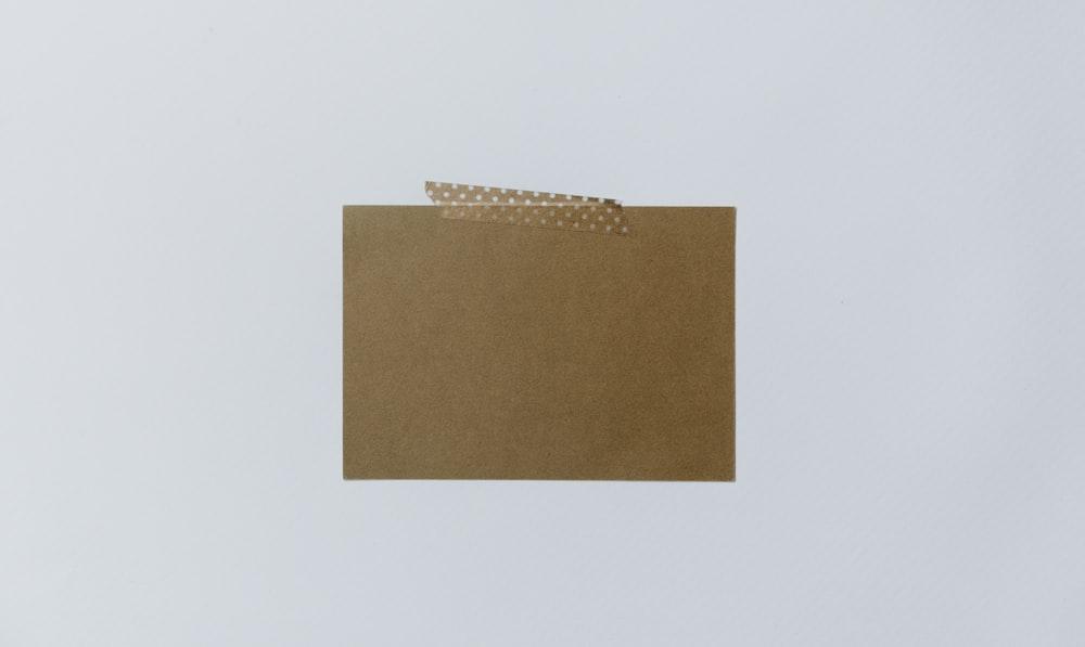 rectangular brown cover